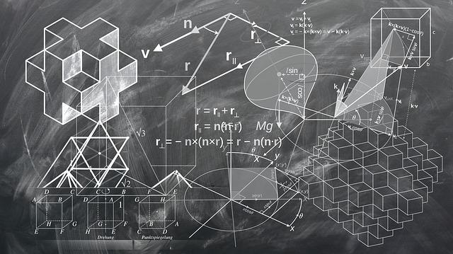 黒板に数式